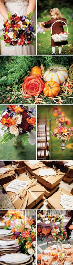 """Fall"" in love wedding inspiration."