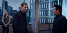 Insurgent trailer still - Tris and Four talking to Jack Kang, leader of Candor. Insurgent Movie, Divergent Series, Allegiant, Tris And Four, Fangirl, Insurgent, Fan Girl
