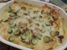 Ricetta Portata principale : Lasagne con zucchine salsiccia e stracciatella di bufala da RossoPomodoro