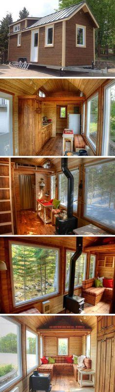mytinyhousedirectory: DIY Quebec Tiny House ~ Beautiful