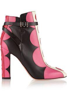 Valentino Carmen appliquéd leather ankle boots   NET-A-PORTER