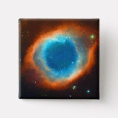 Helix Nebula Galaxies and Stars Pinback Button #spacemad #outerspace #astronauts