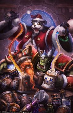 Happy New Year, pic by Blizzard Entertainment -World of Warcraft World Of Warcraft, Warcraft Heroes, Art Warcraft, Warcraft Legion, Fantasy Rpg, Fantasy World, Fantasy Comics, Pandaren Monk, Winter Veil