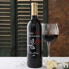 Personalized Anniversary Wine Bottles - Rose  $74.95