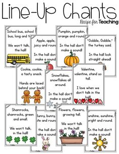 https://www.teacherspayteachers.com/Product/Line-Up-Chants-2044139