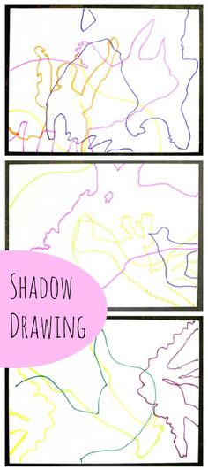 Abstract shadow drawing - art projects for kids at Artchoo.com