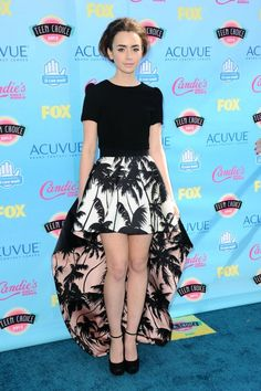 Lily Collins in Fausto Puglisi  2013 Teen Choice Awards