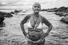 The National Portrait Gallery has announced the People's Choice award for this year's National Photographic Portrait Prize has been won by Natalie Grono from Byron Bay for her photograph Feather and the Goddess Pool White Flag, Body Photography, Portrait Photography, National Portrait Gallery, Forever, Byron Bay, Poses, Old Women, Wise Women