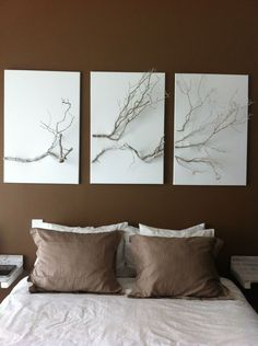 Painted tree branches interior design concepts diy home deco Handmade Home, Pinterest Home, Woodworking Projects Diy, Home And Deco, Home Decor Accessories, Home Projects, Diy Furniture, Diy Home Decor, Bedroom Decor