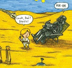 Darth Vader and Son Darth Vader And Son, Star Wars Jokes, War Comics, Star Wars Images, Star Wars Wallpaper, Star Wars Fan Art, Star War 3, Memes, Bizarro Comic