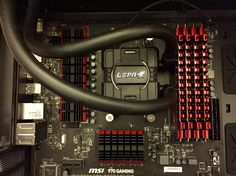Project RED MSI 970 Motherboard LEPA Watercooling