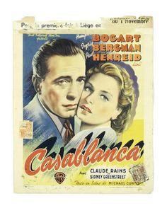 Casablanca, Warner Bros, Belgium poster, Les Ateliers M. Panneels, 12 in x 15 in x Paul Henreid, Casablanca 1942, Claude Rains, Peter Lorre, Ups Shipping, Humphrey Bogart, Drama Film, Warner Bros, Wrapped Canvas