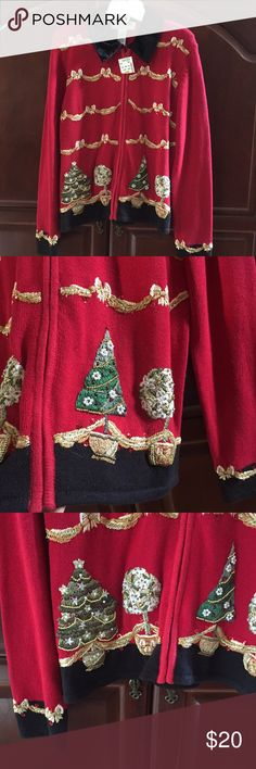 NWT Christmas sweater. Size M. NWT Christmas sweater. Size M. Front zipper. Sweaters Cardigans
