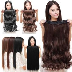 Full head Clip in hair extensions 1 Piece. Style: 1 piece clip in hair extensions. This hair extensions can not be dyed. How to apply these clip in hair extensions. 1 x Clip in Synthetic Hair Extension. Wavy Hair Extensions, Synthetic Hair Extensions, Clip In Hair Extensions, Long Hairstyles, Straight Hairstyles, Wedding Hairstyles, Long Curly Hair, Curly Hair Styles, Sandy Blonde