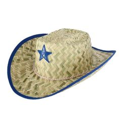 eb5b71dffbc25 Broner Kids  Straw Western Hat with Sheriff Star and Chin Cord