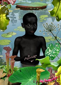 Ruud Van Empel. I love this picture because it seems exotic at first glance because of the colors but then you really look and it starts to look like any bug hunt you may have gone on as a child.