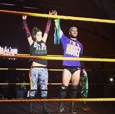 Bayley and Finn Balor, They might never happen but I swear they would be the cutest couple ever Watch Wrestling, Wrestling Divas, Finn Balor And Bayley, Pamela Rose Martinez, Balor Club, Wwe Couples, The Shield Wwe, Weak In The Knees, 54 Kg