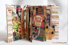 Мини-альбом из набора скрап бумаги 15х15 см