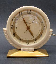 Vintage Art Deco Electric McClintock Alarm Clock 1940s