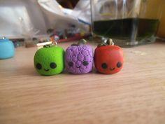 SINGLE kawaii cube fruit handmade polymer clay by ImperfectArts