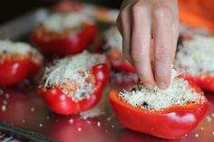 Stuffed Sweet Bell Peppers | Recipe | Stuffed Peppers, Baking and Le ...
