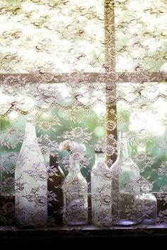 Window lace. Dreamy light.
