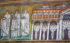 """The Palace of Theodoric - """"The Magnificent Ravenna Mosaics of S. Apollinare Nuovo"""" by @1step2theleft"""