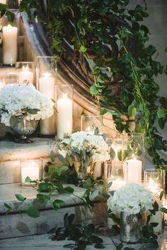8 Best Ways to Decorate Wedding Stairs Diy Wedding Flowers, Wedding Ceremony Decorations, Garden Wedding, Wedding Staircase Decoration, Wedding Stairs, Church Wedding, Stair Decor, Outdoor Stairs, Grand Staircase