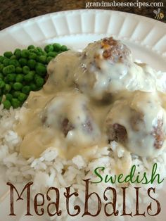 Swedish Meatballs - Sunday Dinner! YES!