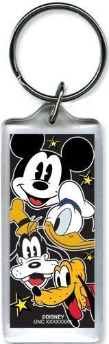 Disney Mickey and Friends heads up lucite Plastic Keychain key chain