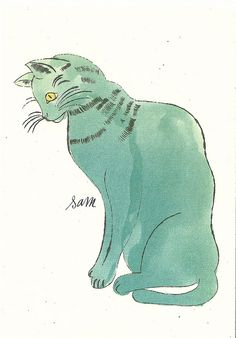 Cat by Andy Warhol ANDY WARHOL More at FOSTERGINGER @ Pinterest