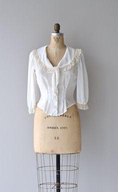 Romanza blouse vintage 70s blouse romantic lace by DearGolden