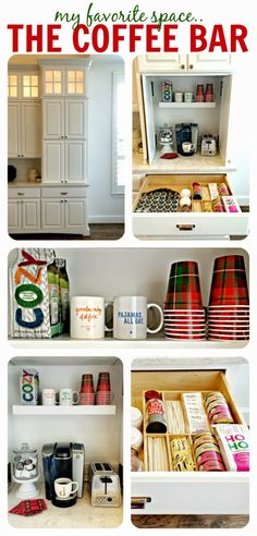 Built-in Coffee Bar / Appliance Garage ... AKA, the best invention known to man! ;)