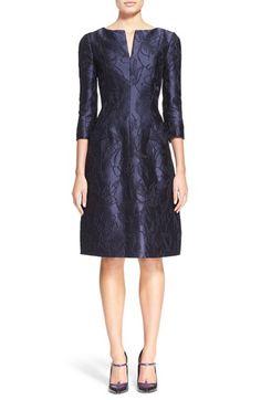 Oscar de la RentaRose Bramble Jacquard Dress available at #Nordstrom