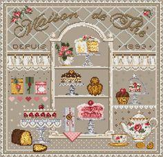 Madame la Fee - Maison de The / Дом чая (Чайный дом), схема для вышивания…