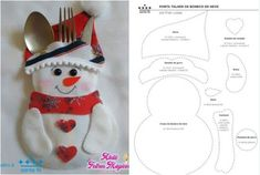 Moldes de Trenó Do Papai Noel para imprimir gratis - Christmas Ornament Template, Felt Christmas Ornaments, Christmas Fun, Christmas Stockings, Christmas Decoration Items, Pvc Pipe Crafts, Felt Gifts, Diy Mothers Day Gifts, Theme Noel