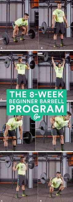 With one tried-and-true tool and just five simple moves, you'll get fitter�faster. #barbell #workout #fitness http://greatist.com/move/beginner-barbell-workout