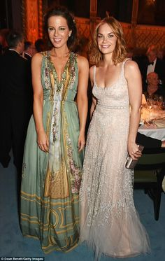 Time to let loose! At the show's after-party, Ruth cosied up with the gorgeous Kate Beckin...