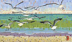 """Beach Patrol,"" by Rene' Wiley by Rene' Wiley Gallery Unenhanced Giclée ~  x"
