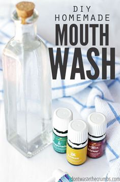Improve your dental health dramatically with homemade versions! This homemade mouthwash is not only cheaper, but better for you than commercial mouthwash. Plus it's just 3 ingredients & water!
