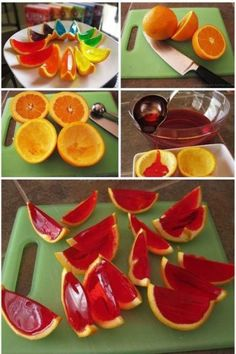 Jello slices... Great for a summer party!