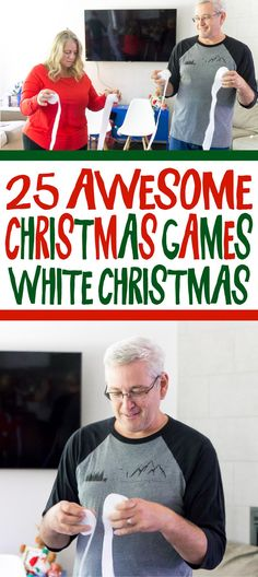 ideas funny christmas gifts for family fun games Christmas Party Games For Adults, Funny Christmas Games, Christmas Games For Family, Xmas Games, Family Fun Games, Christmas Humor, Kids Christmas, Christmas Games With Gifts, Minute To Win It Games Christmas