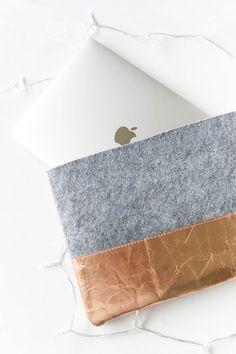 DIY Idee - Laptoptasche aus Filz nähen - das perfekte sleeve fürs Macbook | ars textura DIY Blog