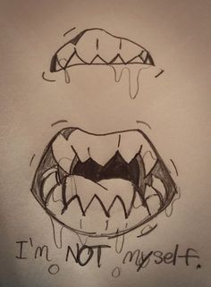 Unique How to Draw Teeth with Pencil , I M Not Myself at All Lately 👹 Fangs Teeth Creepy Vent Ventart, Unique How to Draw Teeth with Pencil , How to Draw Teeth with Pencil Demon Drawings, Creepy Drawings, Dark Art Drawings, Art Drawings Sketches, Easy Drawings, Creepy Sketches, Halloween Drawings, Teeth Drawing, Monster Drawing