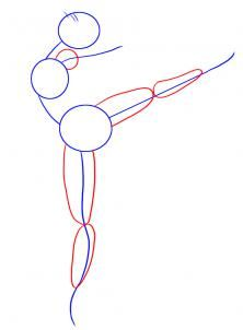 how to draw a ballerina dancer step 2