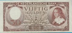 """Currently at the Catawiki auctions: The Netherlands - Banknote 50 Guilders 1945 """"Stadhouder Willem III"""" [Stadtholder William III]"""