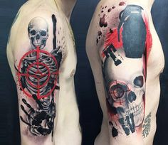 Skull tattoo by Ivan Trapiani