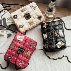 $20.99 Women Bag 2016 Luxury Brand Woman Small Bag Chain Plaid Crossbody Bags For Women Shoulder Bags Chanel #Luxury #Bag #Chain #Plaid #Crossbody #Chanel
