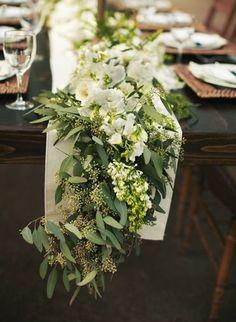 Gorgeous eucalyptus table garland!