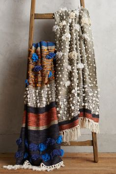 Textural woven throws by All Roads for Anthropologie. Majida Collection. Fall 2015 | All Roads.